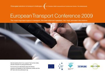 European Transport Conference 2009