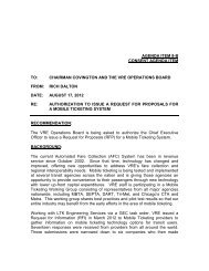 authorization to issue a request for proposals for a mobile ticketing ...