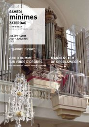 minimes - Open kerken