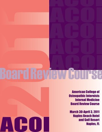 American College of Osteopathic Internists Internal Medicine Board ...