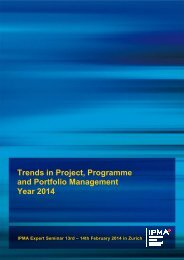 Trends in Project, Programme and Portfolio Management Year 2014