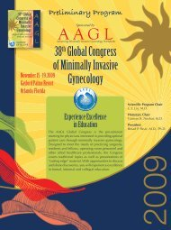 38th Global Congress of Minimally Invasive Gynecology - AAGL