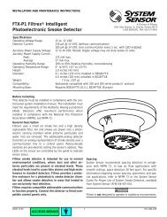 FTX-P1 Filtrex® Intelligent Photoelectronic Smoke ... - Cerber.pro