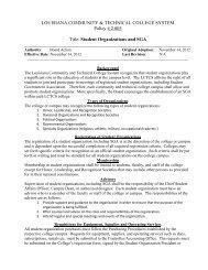 Student Organizations and SGA - Louisiana Community and ...