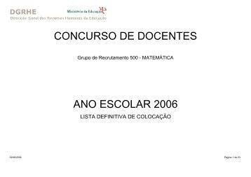 Grupo de Recrutamento 500 - Fenprof