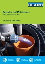 Operation and Maintenance - KLARO GmbH