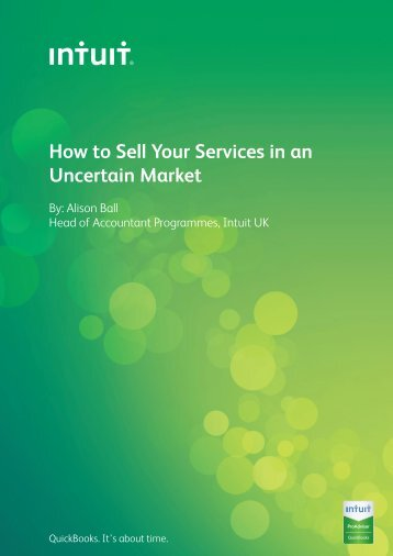How to Sell Your Services in an Uncertain Market - Intuit