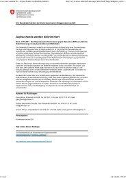Medienmitteilung vom 21. Oktober 2011 - Schweizerische ...