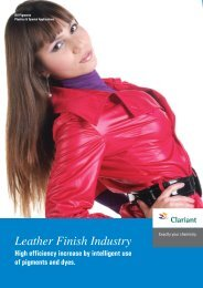 Leather Finish Industry
