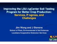 Improving the LSU AgCenter Soil Testing Program for Better Crop ...