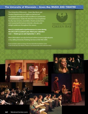 UW-Green Bay Performing Arts - Fox Cities Magazine