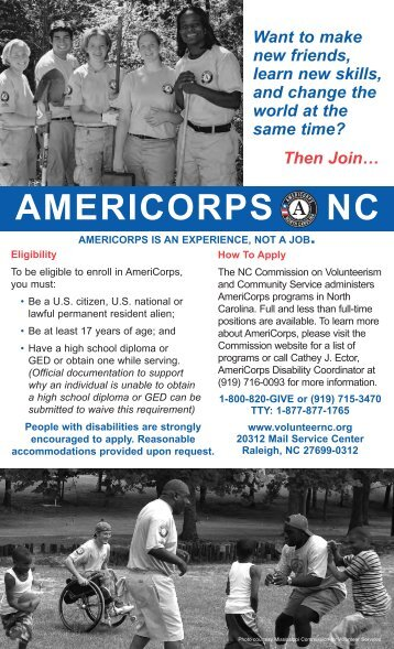 AMERICORPS NC - North Carolina Commission on Volunteerism ...