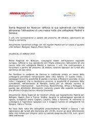 Iberia Regional Air Nostrum rafforza la sua operatività con l'Italia ...