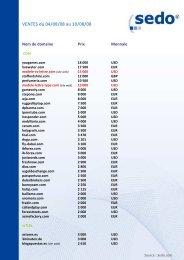 VENTES du 04/08/08 au 10/08/08 - Blogodomaines.com