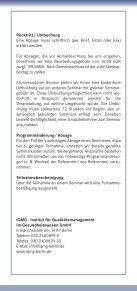 SEMINARE - IQMG Institut für Qualitätsmanagement im ... - Seite 4