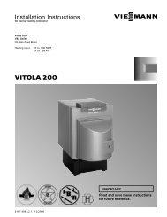 VITOLA 200 Installation Instructions - Coastal Winair