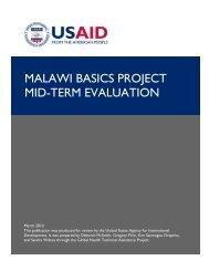 MALAWI BASICS PROJECT MID-TERM EVALUATION