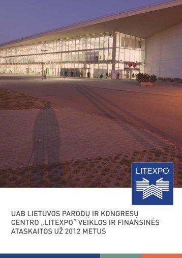 """uab lietuvos parodų ir kongresų centro """"litexpo"""" veiklos ir finansinės ..."""
