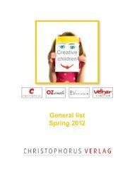 General list Spring 2012 - Christophorus-Verlag