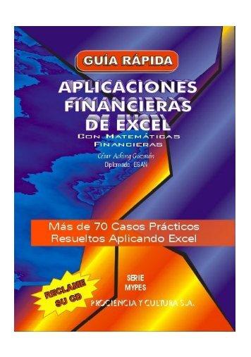 Aplicaciones Financieras de Excel con Matemáticas ... - Gestiopolis