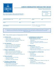Download the Teacher Recommendation Grade JK -1 form