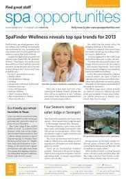 spa opportunities - Leisure Opportunities