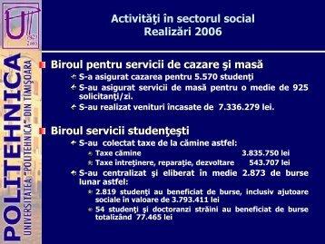 Serviciul Social Realizări 2002