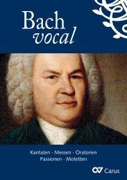 Kantaten · Messen · Oratorien Passionen · Motetten