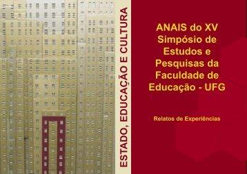 o caso da Universidade Federal de Goiás. - CAVI - UFG