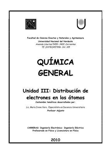 QUÍMICA GENERAL - Universidad Nacional del Nordeste