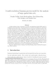 A multi-resolution Gaussian process model for the analysis ... - IMAGe