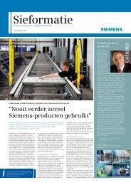 """""""Nooit eerder zoveel Siemens-producten gebruikt"""" - Industry ..."""