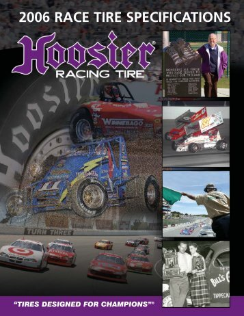 Tire Specification Catalog (Page 1) - Hoosier Racing Tire