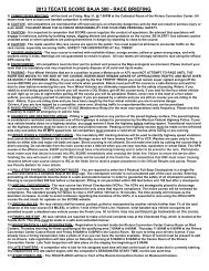 2013 tecate score baja 500 - race briefing - SCORE International