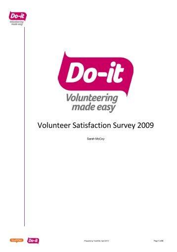 Do-it Volunteer Satisfaction Report 2009-2010 - YouthNet