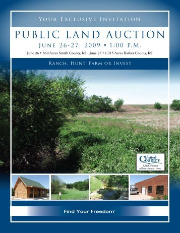 PUBLIC LAND AUCTION - United Country Real Estate