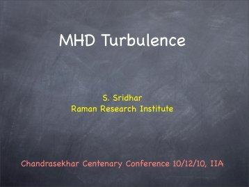 S. Sridhar - Indian Institute of Astrophysics