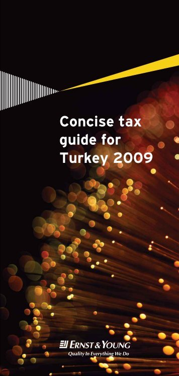 Concise tax guide for Turkey 2009