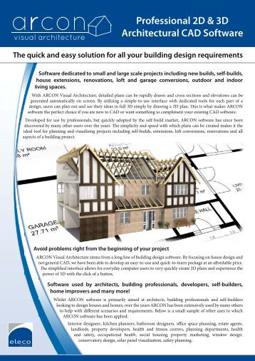 Arbucomp prospekt arbucomp architectural building for Architectural drafting programs free