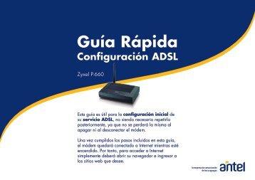 Manual Web Guía Rápida ZYXEL P660 .(pdf 2.83 Kb) - Antel