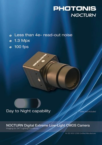 Day to Night capability Less than 4e- read-out noise ... - Site ftp Elvitec