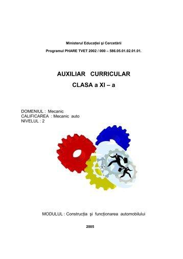 MECANICA XI CONSTRUCTIA SI FUNCTIONAREA ... - cndipt