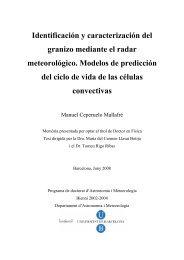 Identificación y caracterización del granizo mediante el radar ...