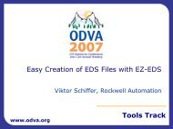 Easy Creation of EDS Files with EZ-EDS - ODVA