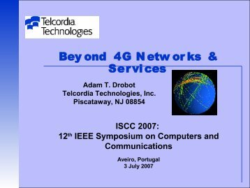 Beyond 4G Networks and Services (download PDF) - IEEE ...