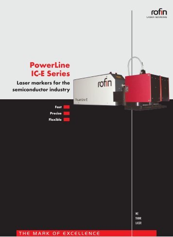 PowerLine IC-E Series Laser markers for the semiconductor ... - Rofin