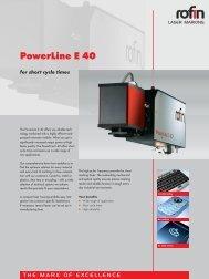 RS-112 PowerLine E 40 englisch - Rofin