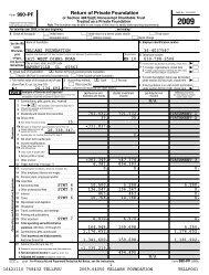 Tellabs Foundation 2009 Tax Return Form 990-PF