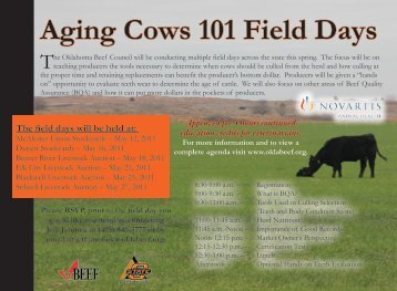 Aging Cows 101 Field Days - Oklahoma Beef Extension