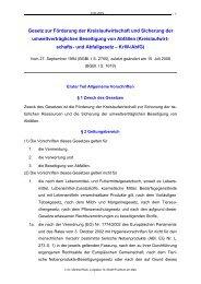 und Abfallgesetzes in der ab 1.2.2007 geltenden Fassung